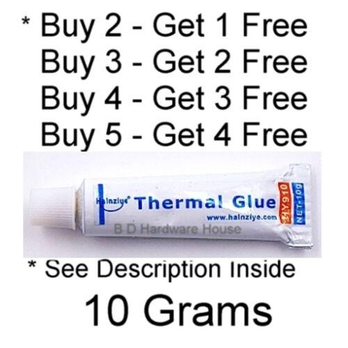 Large* 10g -Thermal Conductive Silicone Glue Adhesive -LED GPU Heatsink Mosfet 1