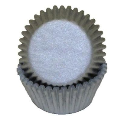 Silver Grey Standard Cupcake Liners Baking Cups Grease Proof