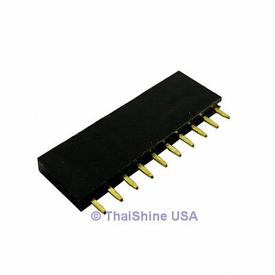 10 X 10 Pin 2.54mm Single Row Female Pin Header - Usa Seller - Free Shipping