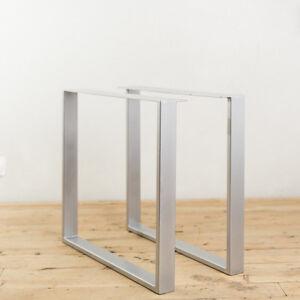 2 x HEAVY DUTY STEEL TABLE LEGS / POWDER COATED / RETRO METAL INDUSTRIAL DESIGN