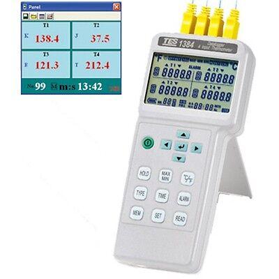 4 Channels Input Thermometer Thermocouple K J E T R S N L U B C Datalogger Usb