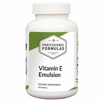 VITAMIN E EMULSION PROFESSIONAL FORMULAS ANTIOXIDANTS SUPPLEMENTS AMINO ACIDS