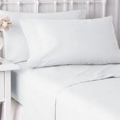 12 new bright white hotel pillow cases covers standard size 20''x30'' t-180tc