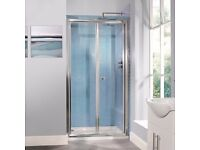 Brand new Aquafloe 1000mm Bifold Shower Door