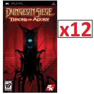 NEW 12 PSP DUNGEON SIEGE GAME 225546846 SONY PLAYSTATION PORTABLE VIDEO GAME THRONE OF AGONY 1 CASE OF 12 GAMES TOTAL