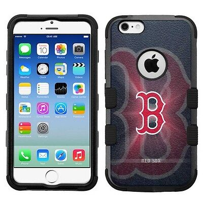 Boston Red Sox High Impact Hard+Rubber Hybrid Case for Apple iPhone 6 6s Plus Boston Red Sox Case