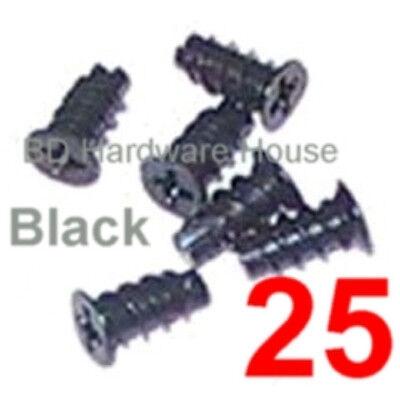 25 - 5 x 10 Black Screws Case Fan Mounting or Fan Grill / Guard Screw