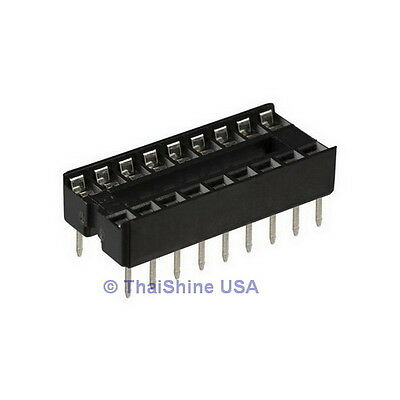 20 x 16 pin DIP IC Sockets Adaptor Solder Type Socket - USA Seller - Free Ship