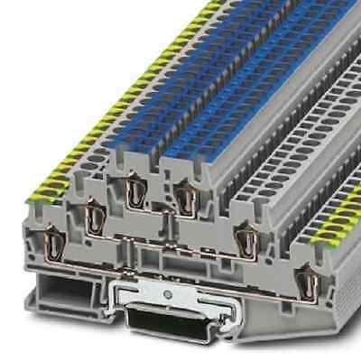 (1 Stk) Dreistockklemme 2,5mm² grau Phönix Contact 3036084 // ST2,5PELN