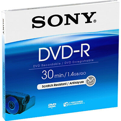 5 Sony DVD-R mini 8cm 30Min 1,4GB Jewelcase Rohlinge für Camcorder 5Stk. 4 Gb Case