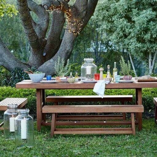 Huge John Lewis Garden Table And Benches Seats In Gateshead - Huge picnic table