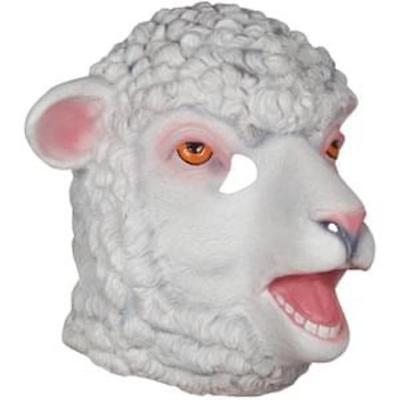 ADULT LATEX LAMB SHEEP FARM ANIMAL COSTUME FULL FACE MASK WHITE GOAT - Adult Sheep Mask