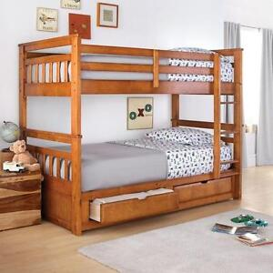 Springsdale' Twin-Over-Twin Storage Bunk Bed --  Like New