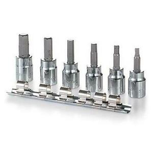 "7-piece 3/8"" Drive Hex Bit Socket Set"