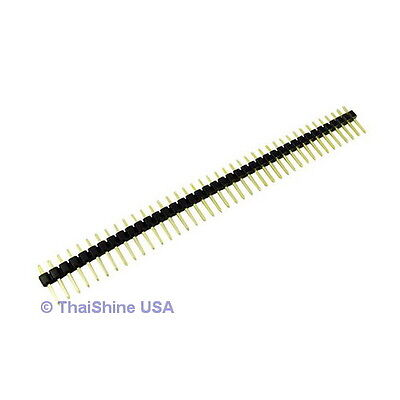 10 pcs. 40 Pin 2.54 mm Single Row Pin Header Strip PCB USA SELLER Free Shipping