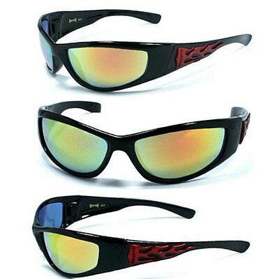 Hot-choppers (HOT CHOPPERS Discounted Sunglasses - Shiny Black / Fire - C19)