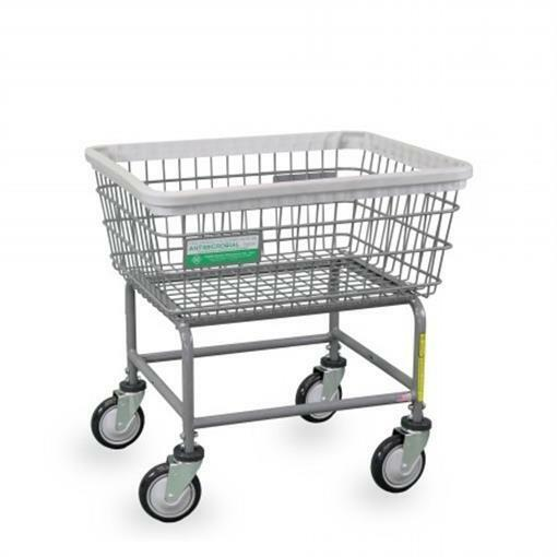 R&B Wire Products 100E-ANTI Antimicrobial Standard Laundry Cart