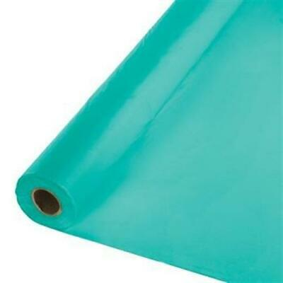 Teal Plastic Banquet 100' Tablecloth Roll Touch of Color - Plastic Tablecloth Rolls
