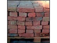 Tudor Red Handmade Reclaimed 60mm Bricks | Pack of 440 | £385 (~£0.87/pc) *FREE NATIONWIDE DELIVERY*