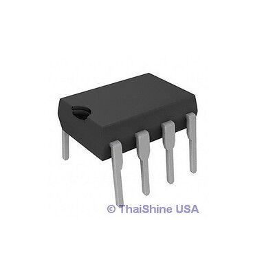 10 X Ne555 Ic 555 Texas Instruments Dip-8 Timer - Usa Seller - Free Shipping