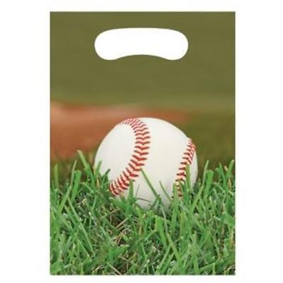Sports Fanatic Baseball Loot Bags 8 Pack Birthday Party Decorations - Sports Birthday