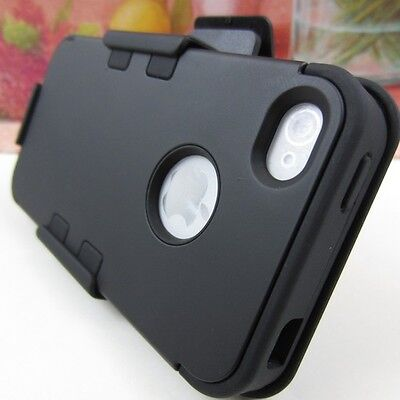 New Black Hard Impact Cover Case+Belt Clip Holster for Apple iPhone 4 4S 4G on Rummage