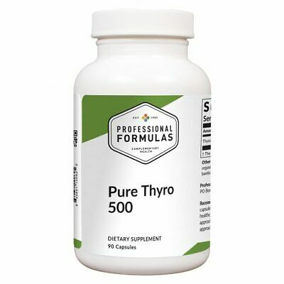 PURE THYRO 500 PROFESSIONAL FORMULAS GLANDULAR DIETARY SUPPLEMENTS THYROID BEST