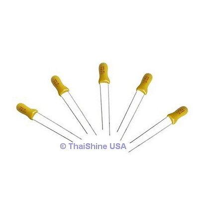 10 X 4.7uf 25v Radial Capacitor Tantalum - Usa Seller - Get It Fast