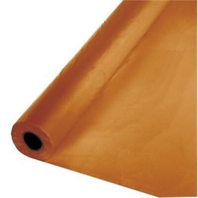 Pumpkin Spice Plastic Banquet 100' Tablecloth Roll Touch of Color - Plastic Tablecloth Rolls