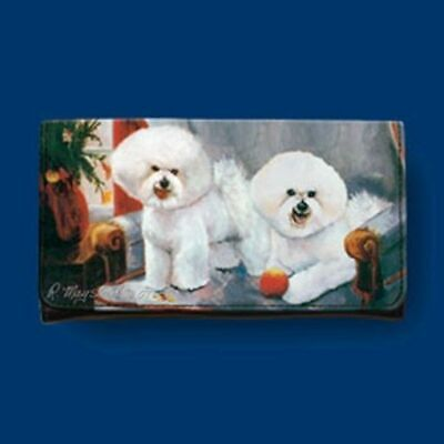 CLEARANCE..RM wallet BICHON FRISE Dog Breed Ladies Tri-fold Wallet Checkbook ()