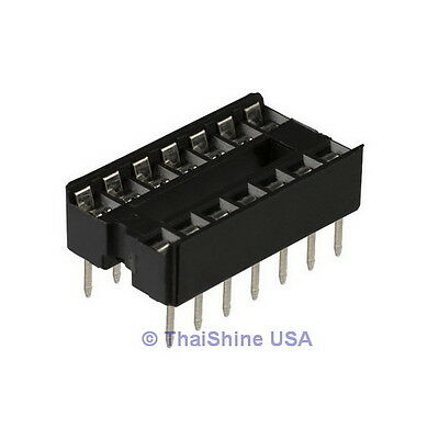 20 x 14 pin DIP IC Sockets Adaptor Solder Type Socket - USA SELLER - Free Ship