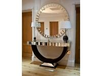 Matching Mirror and Table Set