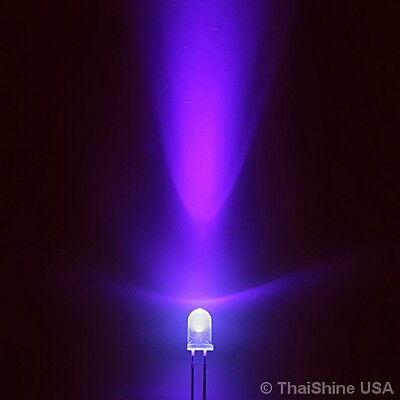 10 X Led Uv 5mm Ultraviolet - Usa Seller - Free Shipping
