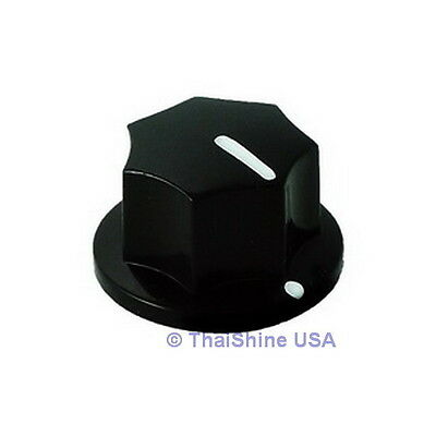 2 X Mxr Style Fluted Black Knob - Usa Seller - Free Shipping