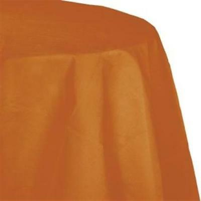 Pumpkin Spice 2/Ply Paper-Poly Round Tablecloth 82