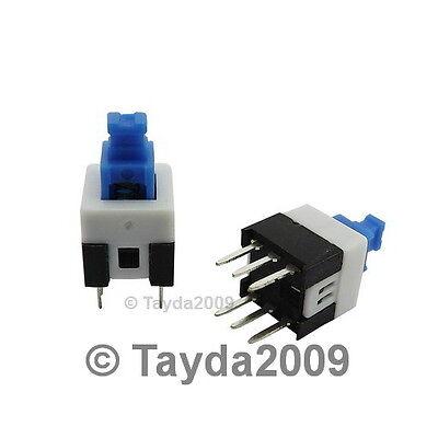 4 X Push Button Switch Dc 30v 0.1a Dpdt