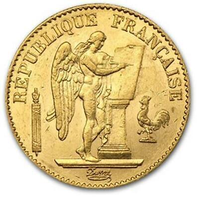 20 Francs Gold Coin Lucky Angel 0.1867 oz Avg Cir - Random Year - Lucky Angel Coin