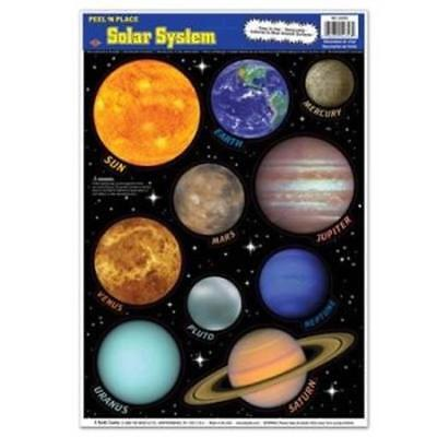 Solar System Peel N Place Outer Space Spaceship Science Party Wall Decoration (Solar System Decorations)