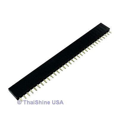 10 x 32 Pin 2.54mm Single Row Female Pin Header - USA Seller - Free Shipping