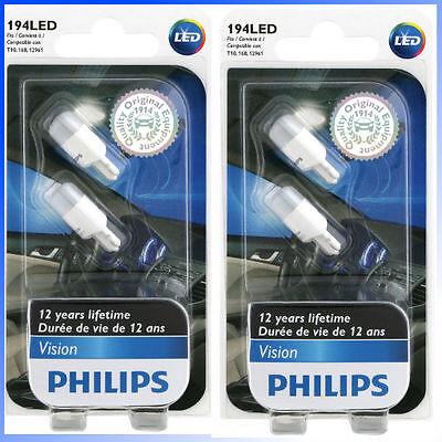 4 X Philips Genuine 194Led 127916000Kb2 T10 168 12961 Led Light Bulb