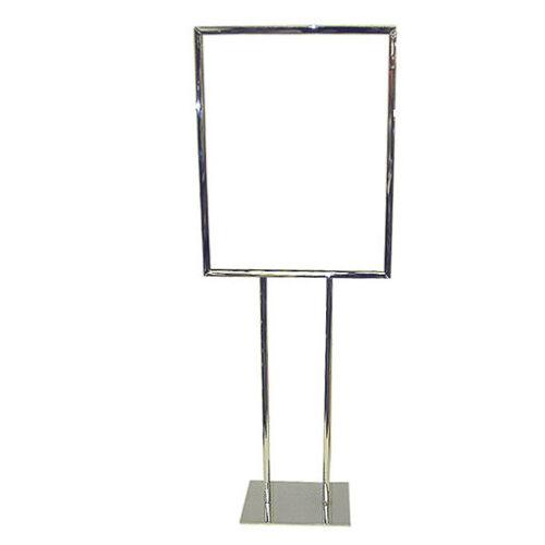 Only Hangers Bulletin Sign Holder Poster Sign Floor Stand 22 x 28 Chrome