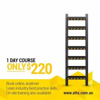 Heights Safety Course, MONDAY 27 NOV–ONLY $220!