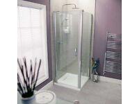 Aquafloe™ Iris 8mm 800 Hinged Shower Enclosure