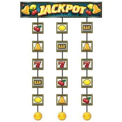 Slot Machine Jackpot Stringer Casino Vegas Gambling Party Hanging Decoration for sale  Shipping to Canada
