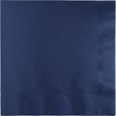 Navy Blue Beverage Napkins 50 Per Pack (Blue Beverage Napkins)