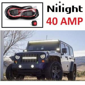 NEW LIGHT BAR WIRING HARNESS KIT NI-WA 02A 224132391 NILIGHT  FOR OFF ROAD ATV/JEEP LED 40 AMP RELA ON/OFF SWITCH