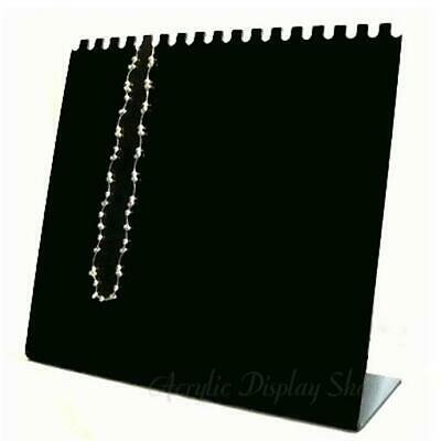 Acrylic Horizontal Necklace Display Easel Stand - Black