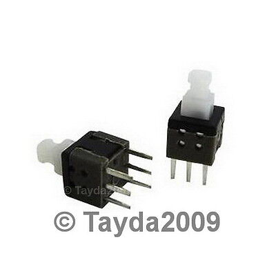 3 X Push Button Switch Momentary Onoff Dpdt 0.5a 50vdc 8x8mm - Free Shipping