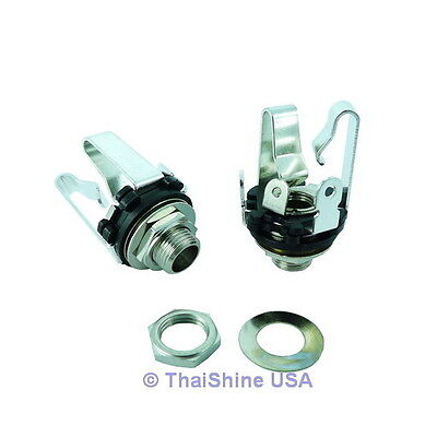 """5 x 6.35mm 1/4"""" Stereo Chassis Socket / Jack 3 Term."""