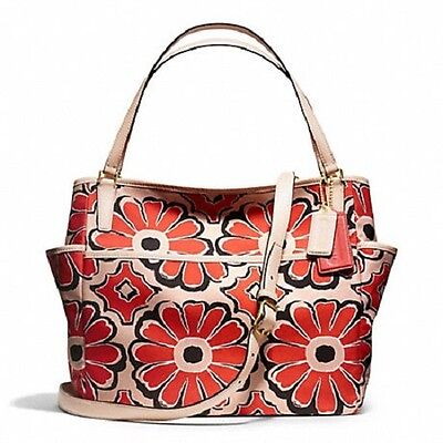 Coach Floral Scarf Print Baby Diaper Mutiunction Laptop Travel Bag Tote 25643